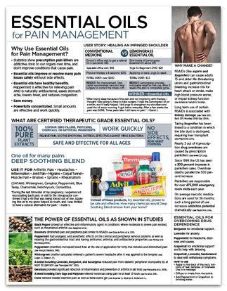 doTERRA Handouts   Essential Oils for Pain Management Tear Pad - Soothe pain ...   doTER ...