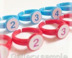 子供用サイズ♪指番号付ゆびのトレーニング用指輪(右手赤・左手水色)