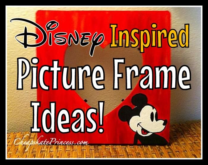 Ready for some easy Disney-inspired crafts? Check out these easy ideas for some super cheap picture frames, just in time for your next Disney vacation!