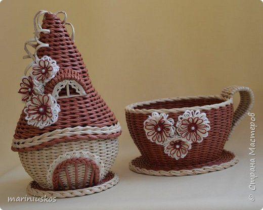 Чайный домик и чашка-конфетница