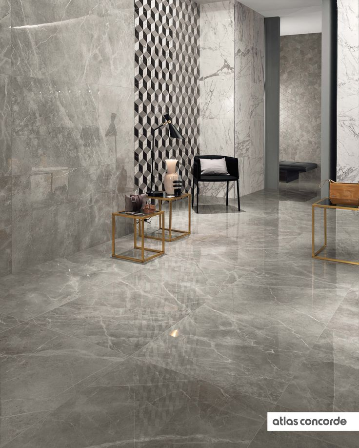 #MARVELPRO grey fleury & statuario select | #AtlasConcorde | #Tiles | #Ceramic | #PorcelainTiles
