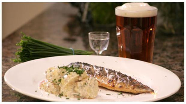 Spise med Price: Grillet eller stegt makrel med kartoffelsalat