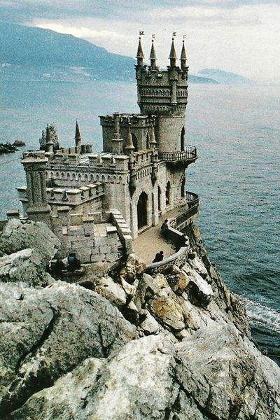 Neo-gothic castle on the Black Sea in Ukraine: