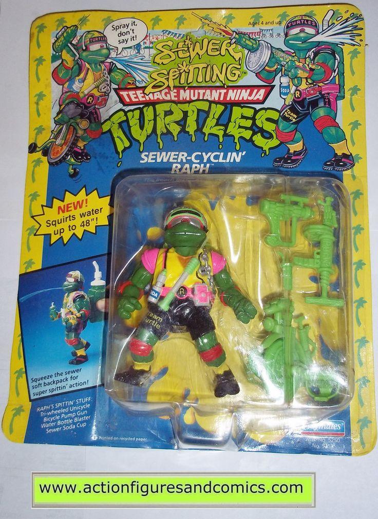 teenage mutant ninja turtles RAPHAEL SEWER CYCLIN RAPH 1992 vintage playmates toys mib moc mip tmnt