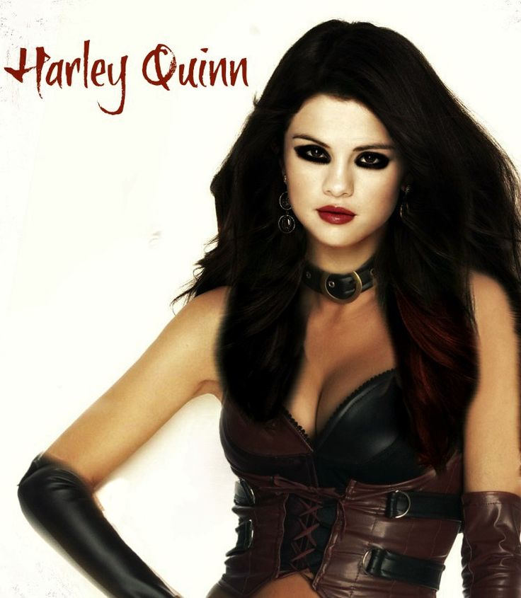 Selena Gomez Paint My Heart Black and Red: Harley Quinn by Paranoia ...