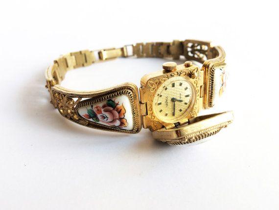 Gold vintage watch. Soviet watch Women's watch by MyTinyTree