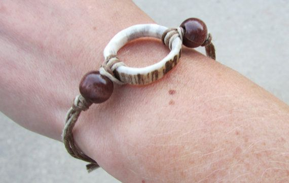 Antler Ring Pendant Bracelet by TheAntlerArtisan on Etsy                                                                                                                                                                                 More