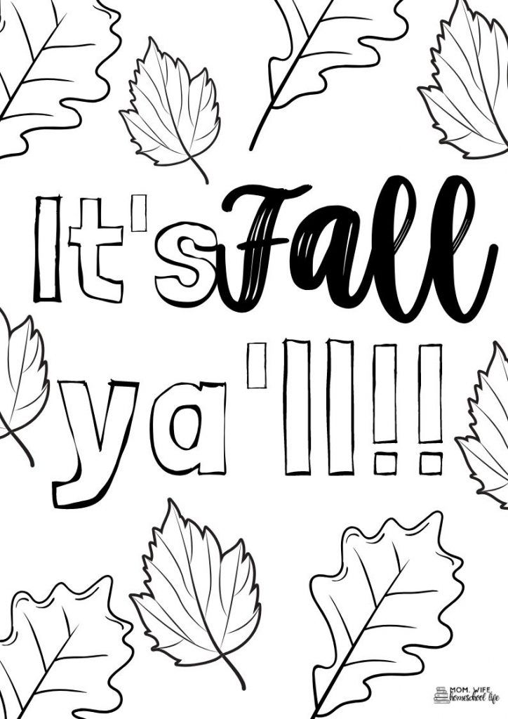 Fall Season Pictures For Coloring