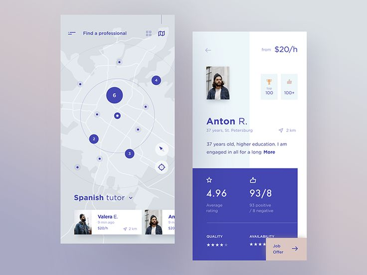 Service providers marketplace by Cuberto