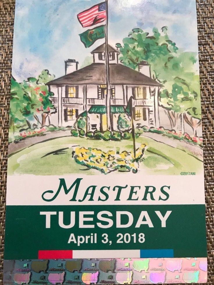 #tickets 1 Tuesday Masters Golf Practice Round please retweet