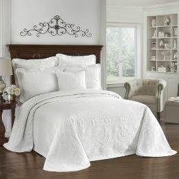 Historic Charleston King Charles White Bedspread - King by Historic Charleston Bedding