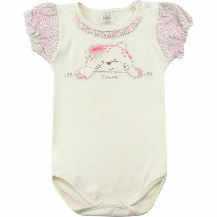 Body de Oncinha para Bebê Menina Rosa - Patimini :: 764 Kids | Roupa bebê e infantil