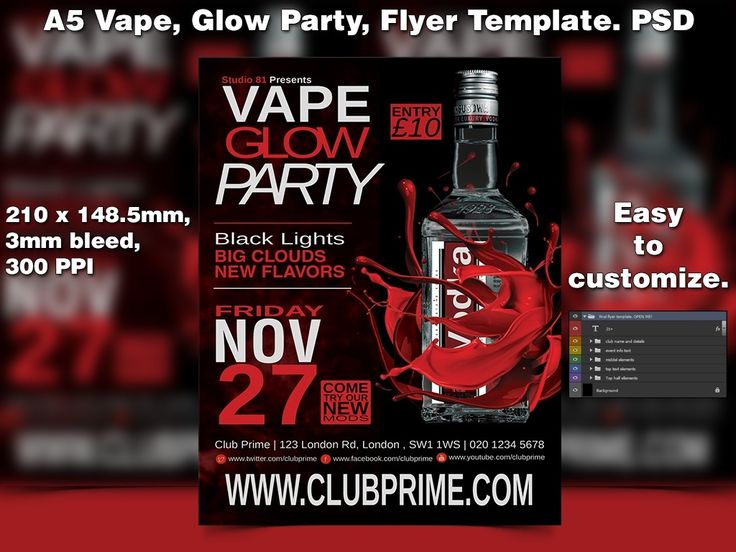 15 best Night Club Event Flyer Template Ideas images on Pinterest - black flyer template