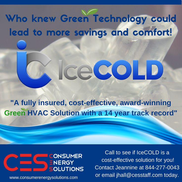 #CES now offers this AMAZING #Green #HVAC Solution that increases the efficiency of your commercial cooling system, extends the life of the equipment, reduces CO2 emissions & more...guaranteed!   IceCOLD has a 14 year track record with over 40,000 installations worldwide, is fully insured & lowers your electricity consumption.   Call to see if this is a cost-effective solution for your business. Contact Jeannine at 844-277-0043 today!   #EnergyEfficiency #Commercial