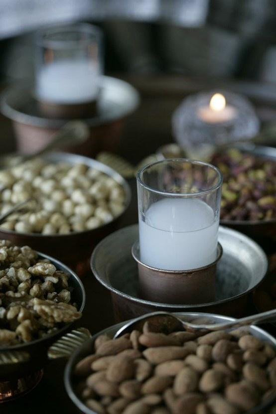 """traditional turkish """" rakı """" with  """" ehlikeyif """" ( raki glass ) my dad could barely swallow it"""