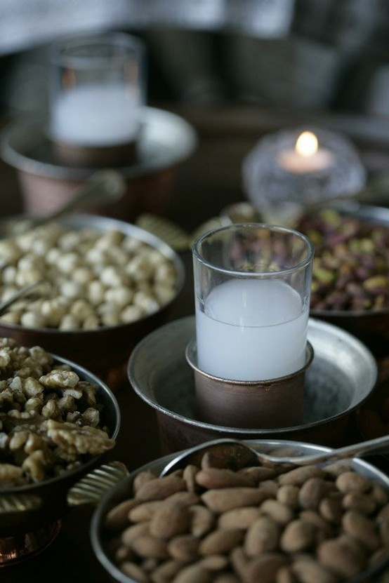 "traditional turkish "" rakı "" with  "" ehlikeyif "" ( raki glass )"