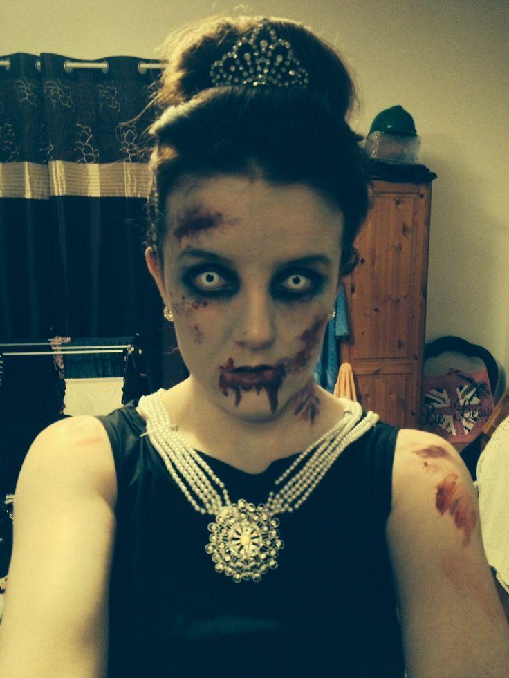 Zombie Audrey Hepburn look for Halloween
