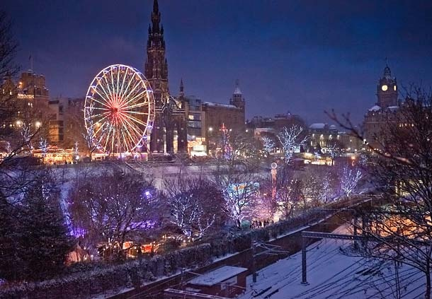 Edinburgh Winter Wonder Land. magical.