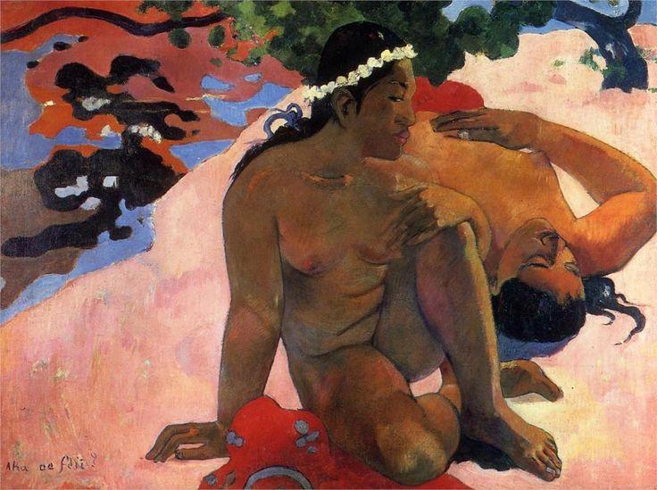 Are You Jealous?, 1892. Puskhin Museum, Moscow, Russia.  Paul Gauguin.  www.artexperiencenyc.com