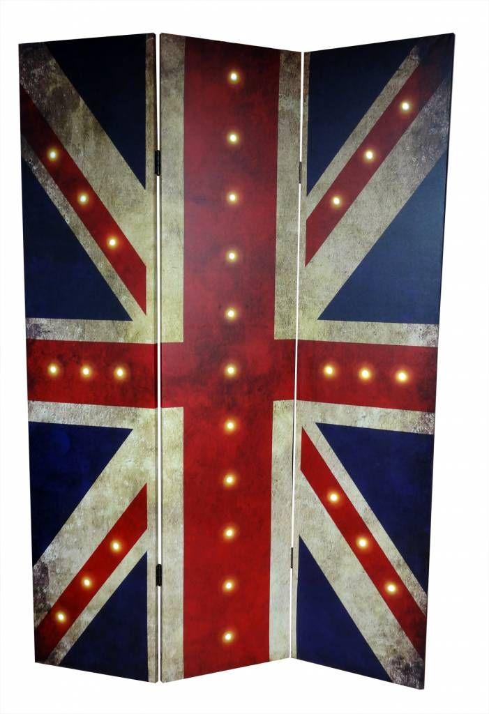 Kamerscherm Britse Vlag met LED