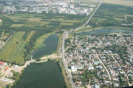 Beautiful Bucharest aerial view.