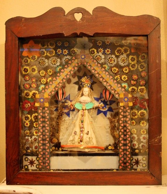 Rare Early 19th C. Case Doll Shrine