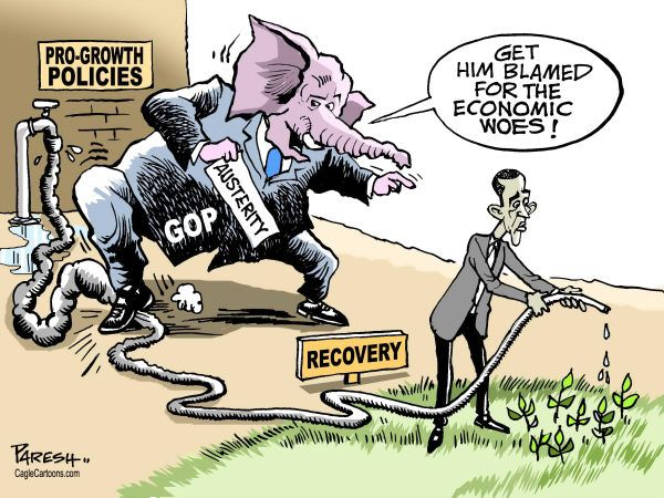 UAE - GOP blames Obama  - GOP, Republican party, USA Election2012,President,economic  crisis, pro-growth policies, economic recovery, Obama