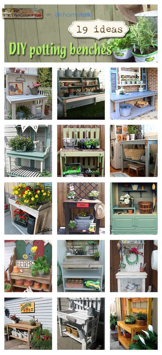 DIY Potting Table and Benches