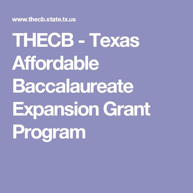 THECB - Texas Affordable Baccalaureate Expansion Grant Program