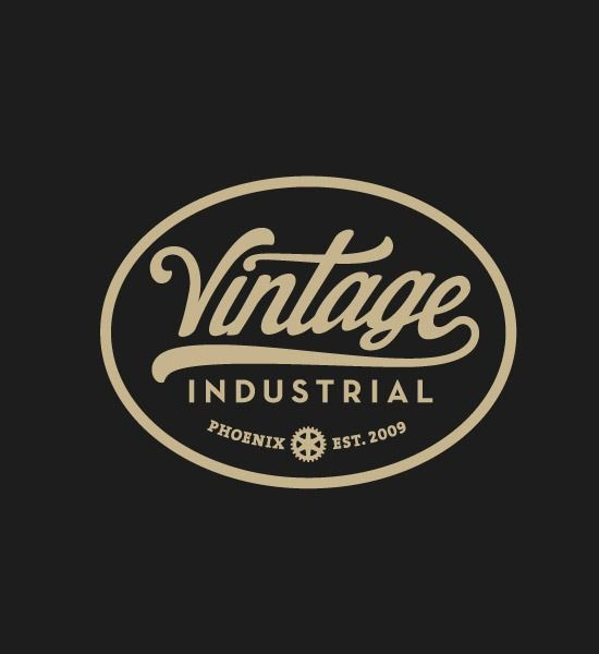 vintage industries thumb 20 most beautiful Retro and vintage logo designs