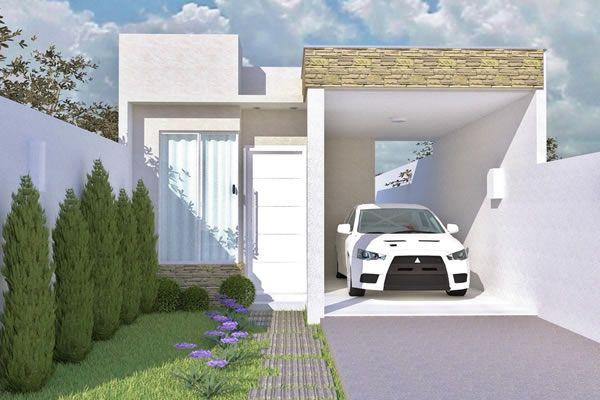 Casa com fachada pequena                                                                                                                                                                                 Mais
