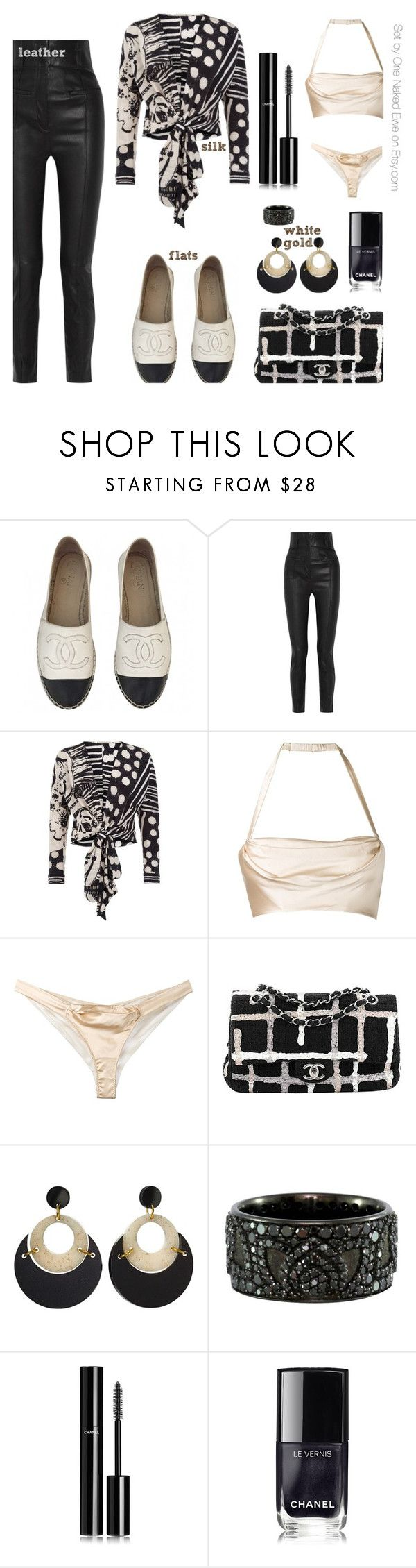 """Form, function, and fabric"" by onenakedewe ❤ liked on Polyvore featuring Chanel, Haider Ackermann, Bianca Elgar, Dolci Follie, Toolally, Luca Jouel and flats"