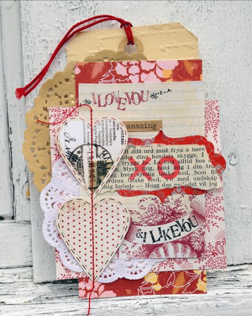 Love tag with lots of layers