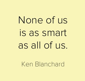 Ken Blanchard:    Rex is an independent consultant with Ken Blanchard Companies.  Contact him for details on how we can bring Blanchard into your life.  Rex@morethantalk.com