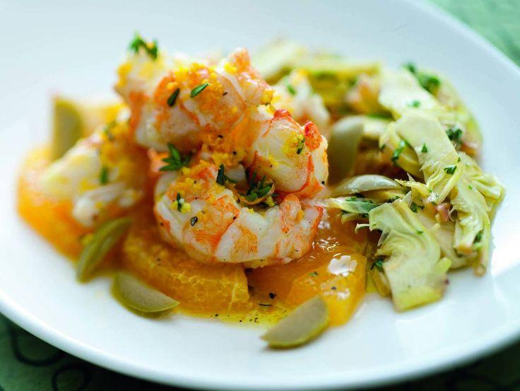 Una ricetta in cui la marinatura è un modo saporito e sano per contenere l'utilizzo di grassi necessari per la cottura in padella. Inoltre, la particolare consistenza morbida degli scampi consente di limitare ulteriormente il condimento