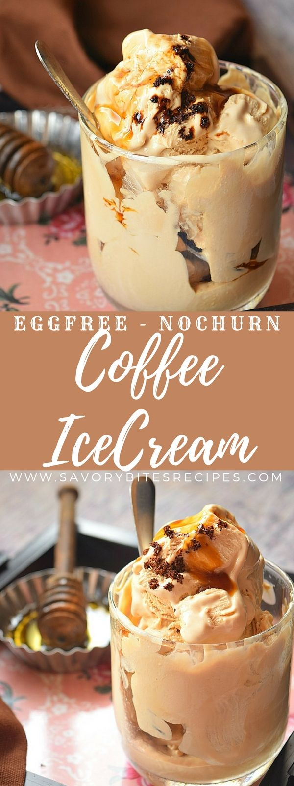 Delicious #eggfree #nochurn #coffee #icecream! Try this #recipe at home,so #easy and so #yummy.