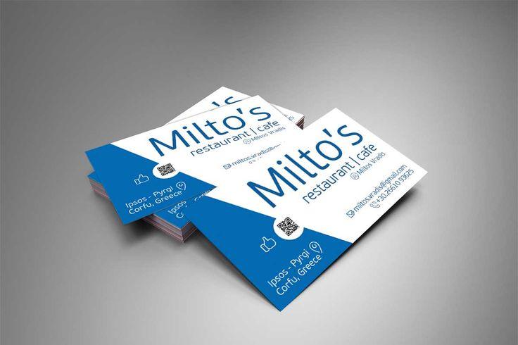 Κατασκευή επαγγελματικής κάρτας – Milto's Restaurant