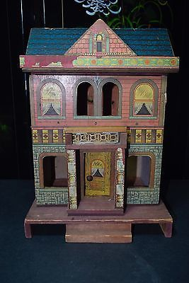 Rare Antique 1901 Wood R Bliss Dollhouse Signed Lithograph