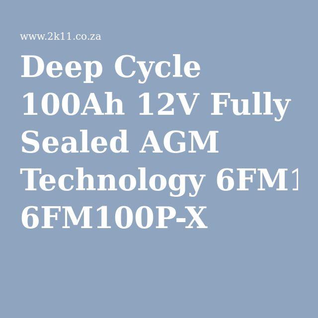 Deep Cycle 100Ah 12V Fully Sealed AGM Technology 6FM100P-X