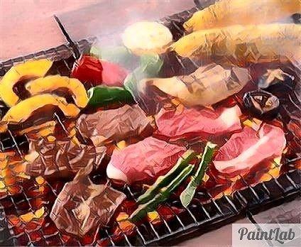 #BBQ  #バーベキュー #焼き肉  #肉 #meat  #牛肉 #beef #豚肉 #pork #鶏肉 #chicken #野菜 #vegetable #とうもろこし #カボチャ #ピーマン #玉ねぎ #しいたけ