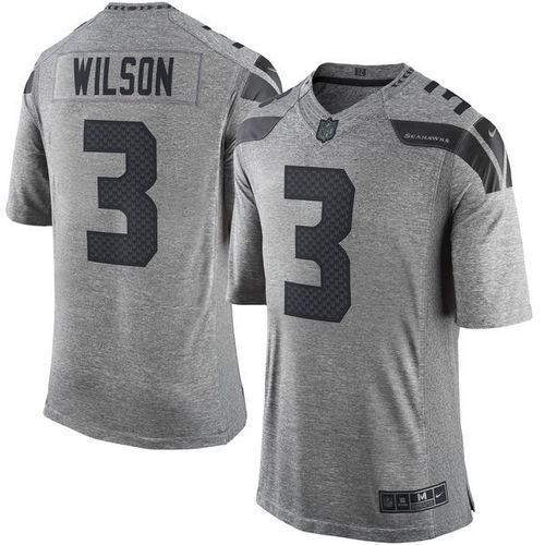 6f9a131e4 ... Collectibles Fa Nike Seahawks 3 Russell Wilson Gray Mens Stitched NFL  Limited Gridiron Gray Jersey Womens - Nike Seattle Seahawks 71 Game White  ...