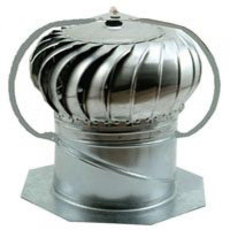 Gc12e 12' Galv Steel Turbine/Base Combination Ventilator