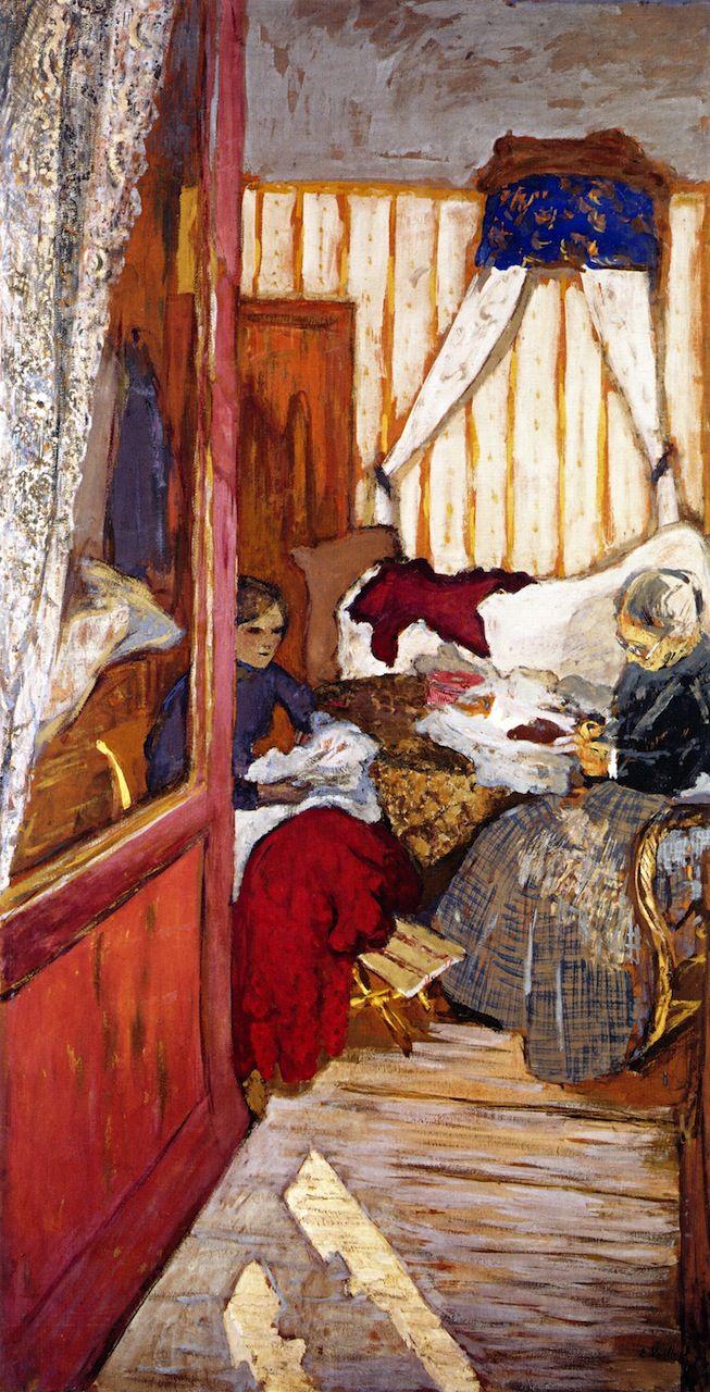 Women Sewing -c.1911 by VUILLARD Edouard (1868-1940)