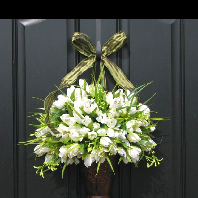 Spring wreath idea!