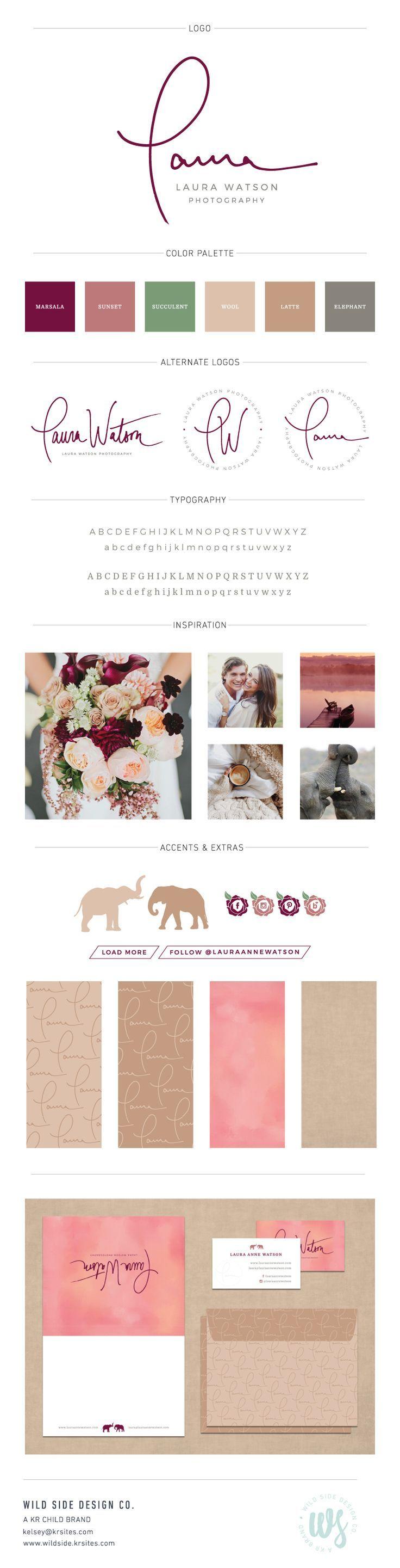 Brand Launch | Brand Style Board | Wedding and Lifestyle Photographer Branding | Laura Watson Photography Brand Design by Wild Side Design Co. | #branding www.wildside.krsites.com