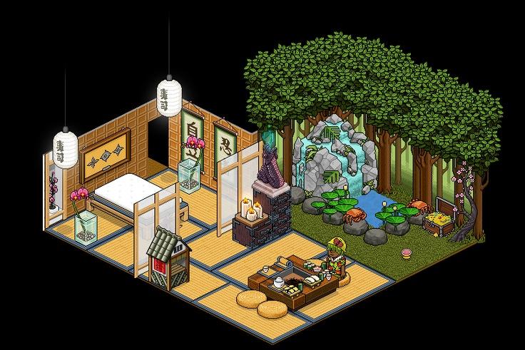 56 melhores imagens de cool habbo rooms no pinterest for Sala de estar habbo