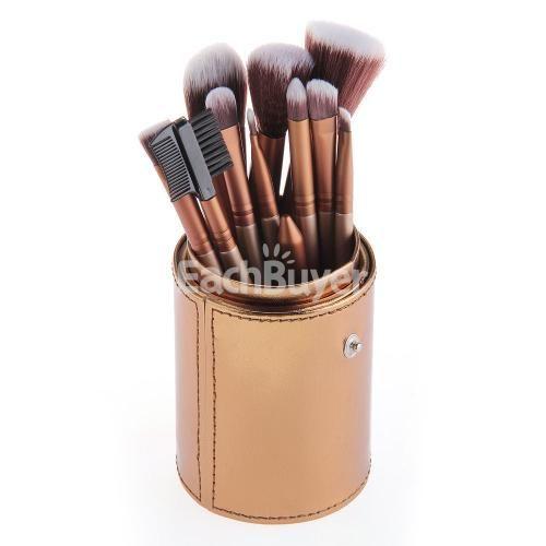 Set 12 PCS Pro Makeup Brushes Powder Foundation Eyeshadow Eyeliner Lip Tool