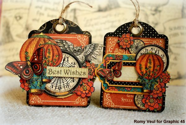 Gorgeous Steampunk Spells tags by Ginny #Graphic45 #tags