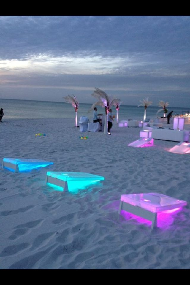 Light up corn hole... Such a great idea!!