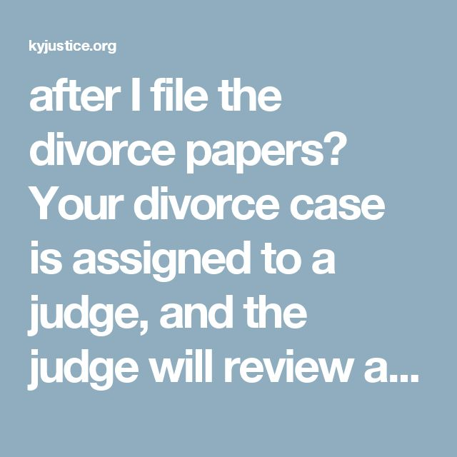 Best 159 divorce ideas on pinterest child custody abusive after i file the divorce papers your divorce case is assigned to a judge and the judge will review any initial motions that you have filed solutioingenieria Choice Image